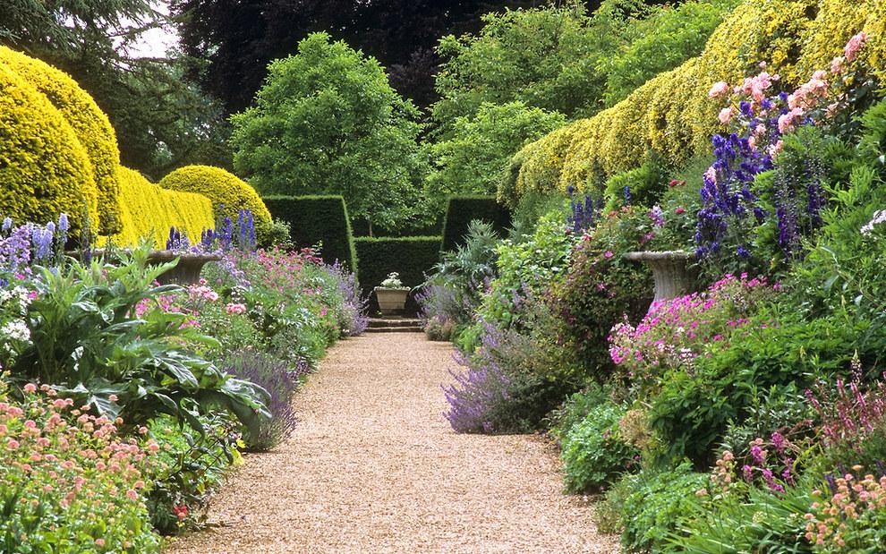 I giardini di Ascott House, Buckinghamshire, Inghilterra