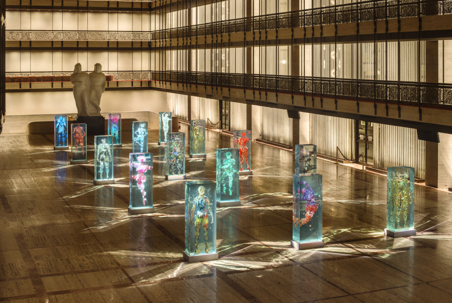 Dustin Yellin's, Psychogeographies per il New York City Ballet's, 2015 Art Series